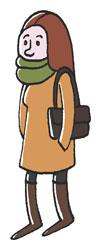 Frau mit grünem Schal